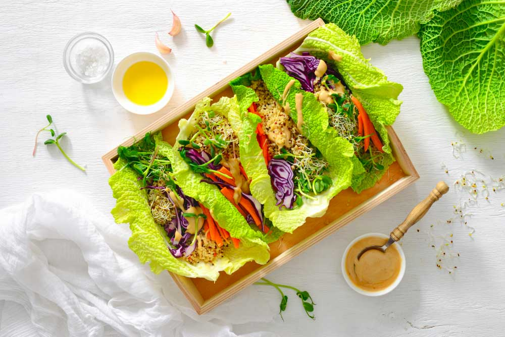 Keto, Paleo and Wole30 Crab Lettuce Wraps